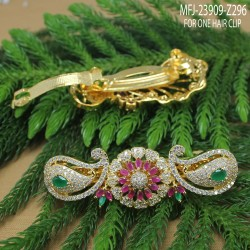 Ruby Stones With Pearl Drop Thilakam Design Gold Plated Finish Jumki Buy Online