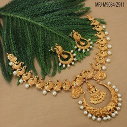 Ruby & Emerald Stones Drops Design Gold Plated Finish Choker Necklace Set Buy Online