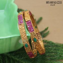 CZ Stones Thilakam Design Gold Plated Finish Necklace Set Buy Online