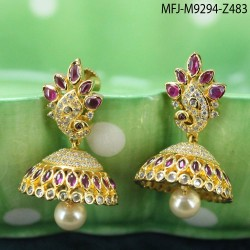 2.4 Size Ruby & Emerald Stones Flowers Design Gold Plated Finish Bangles Buy Online
