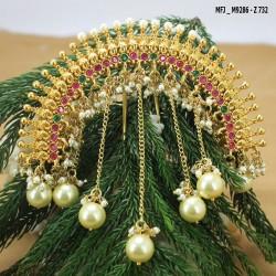 Emerald Stones Designer Gold Plated Finish Kada Buy Online