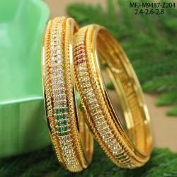 1 GM Gold Dip Ruby Stones Flowers Design Kum kum Dabba Buy Online