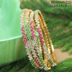 Ruby & Emerald Stones Flowers Design With Pearls Drop Mat Finish Jumki Buy Online