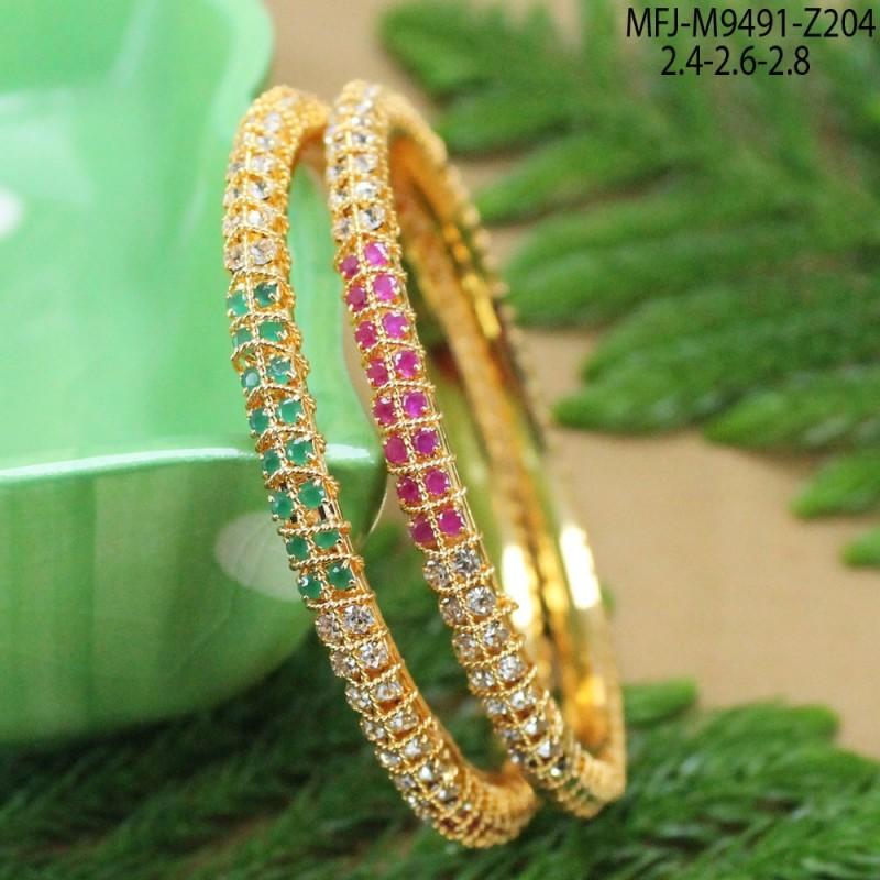Kempu & Green Colour Stones Designer With Golden Balls Drop Gold Plated Finish Necklace Set Buy Online