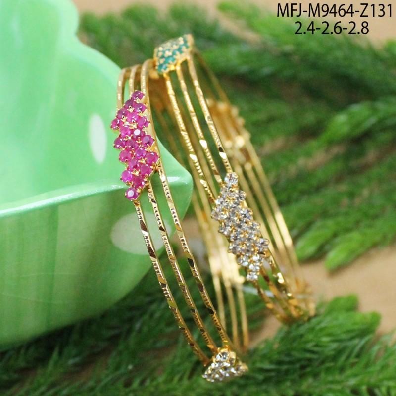 Gold Plated Finish Designer Chain With Ruby Stones Lakshmi Design Pendant Set Buy Online