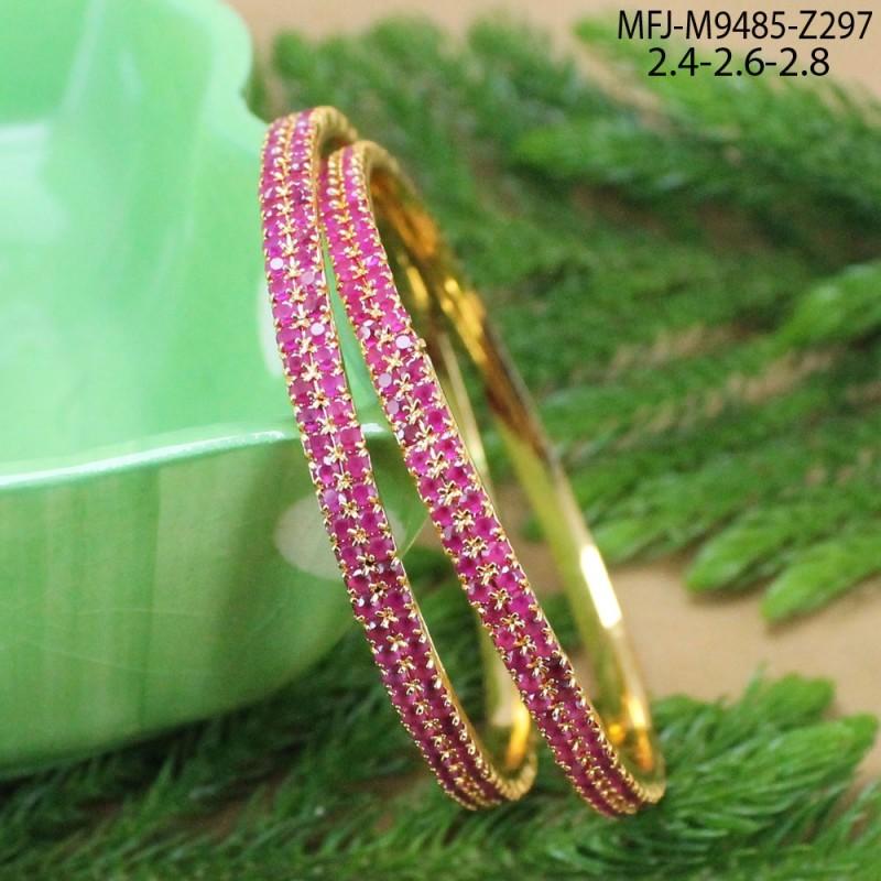 Gold Plated Finish Designer Chain With Ruby & Emerald Stones Lakshmi Design Pendant Set Buy Online
