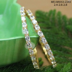 Ruby & Emerald Stones Peacock, Flowers & Mango Design Mat Finish Haram Set Buy Online