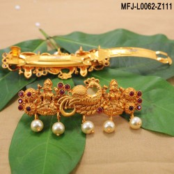 Ruby Stones Thilakam & Leaves Design Gold Plated Finish Necklace Set Buy Online