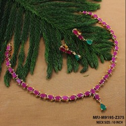 Ruby & Emerald Stones Peacock & Flowers Design Mat Finish Vamki Buy Online