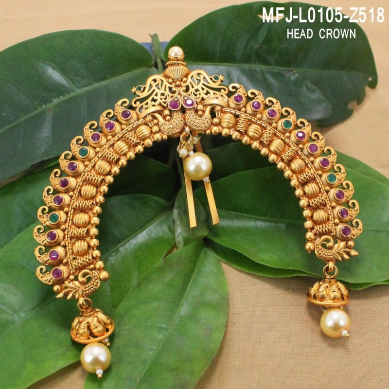 Blue Sapphire Stones Single Line & Flower Design Gold Plated Finish Necklace Set Buy Online