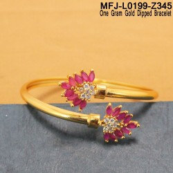 2.6 Size Ruby Stones Mat Finish Lakshmi Design Bracelet Buy Online