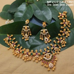 CZ, Ruby & Emerald Stones Flowers Design Gold Plated Finish Hair Clip Buy Online