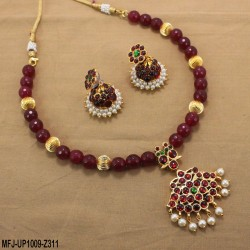 CZ & Ruby Stones Gold Plated Finish Designer Bracelet Buy Online