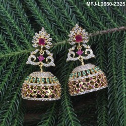 2.4 Size Ruby Stones Flowers Design Mat Finish Two Set Bangles Buy Online
