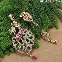 2.4 Size Ruby & Emerald Stones Flowers Design Mat Finish Four Set Bangles Buy Online