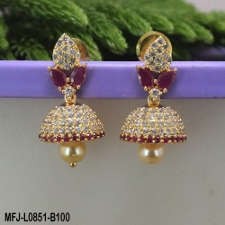 Dark Blue & White Colour Stones With Pearls Mattel For Bharatanatyam Dance And Temple Buy Online