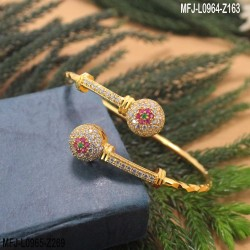 CZ & Ruby Stones Peacock, Flowers & Thilakam Design Gold Plated Finish Pendant Set With Chain Buy Online