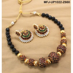 Ruby & Emerald Stones Peacock, Mango & Jumki Design With Pearls Mat Finish Head Crown Buy Online