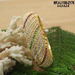 CZ & Ruby Stones Thilakam & Leaves Design With Pearl Drop Gold Plated Finish Necklace Set Buy Online