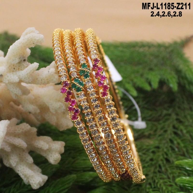 1 Gram Gold Dip Ruby & Emerald Stones Designer Kum Kum Box Buy Online
