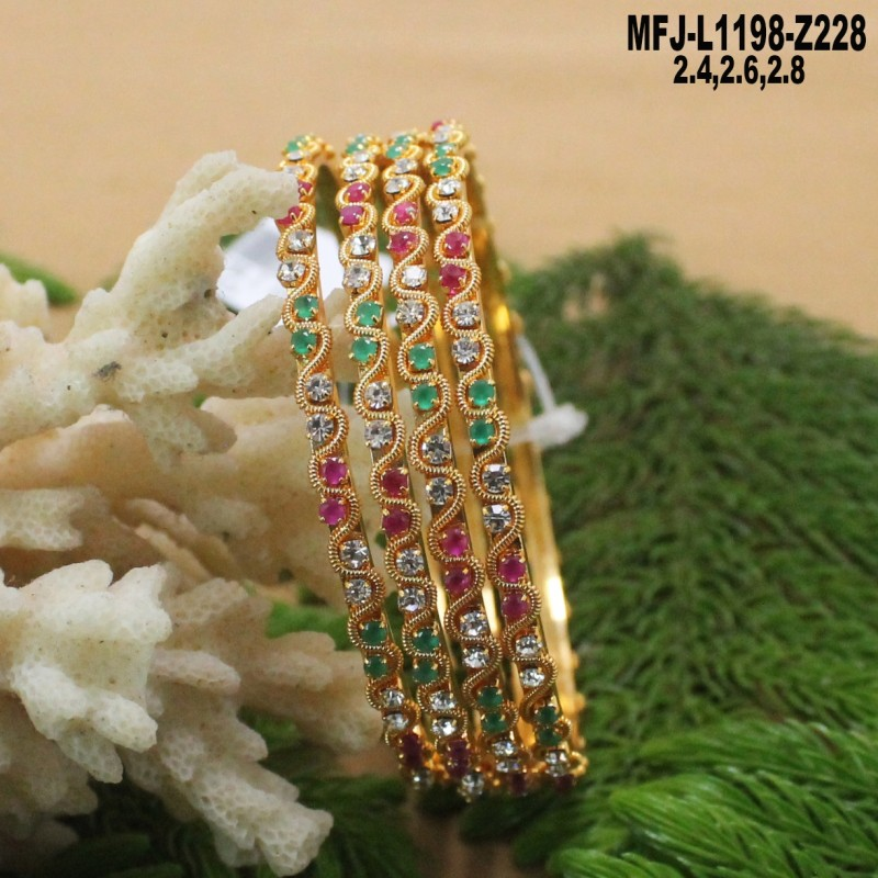 Kempu Stones Gold Plated Finish Nath Bullak (nose pin) Buy Online