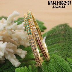 Ruby & Emerald Stones Lakshmi Design With Balls Drops Mat Finish Vamki Buy Online