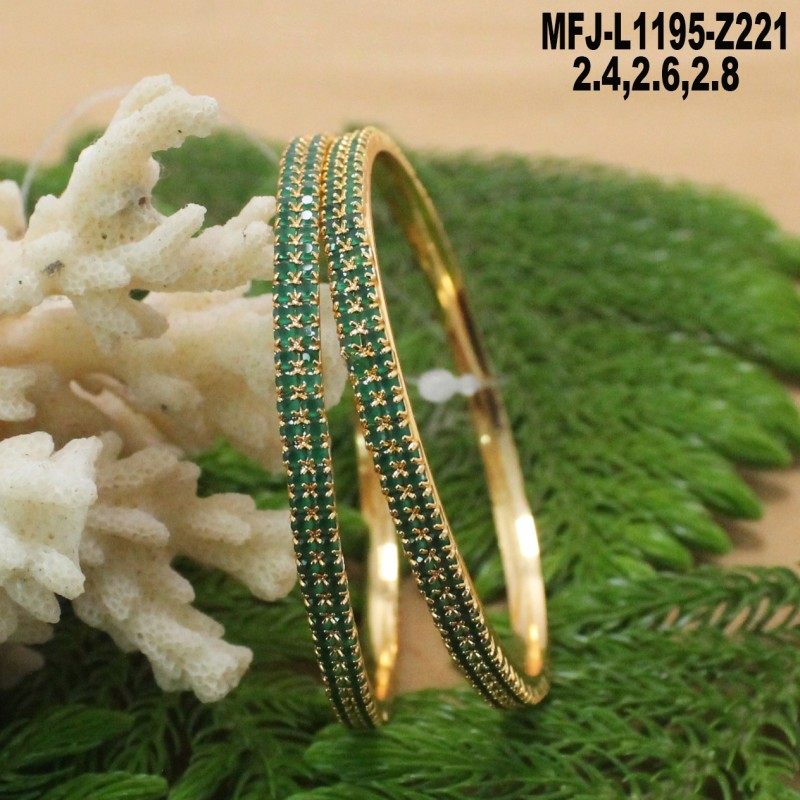 CZ, Ruby & Emerald Stones Flowers & Leaves Design Gold Plated Finish 5 Inch Mattel Set Buy Online