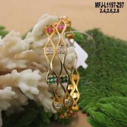 1 Gram Gold Dip Ruby Stones Flowers & Peacock Design With Balls Drops Jumki Buy Online