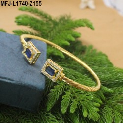 CZ & Black CZ Stones Designer Gold Plated Finish Bracelet Buy Online