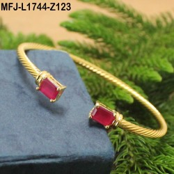 CZ & Ruby Stones Designer Gold Plated Finish Bracelet Buy Online