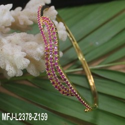 Ruby Stones Flowers Design Gold Plated Finish Bracelet Buy Online