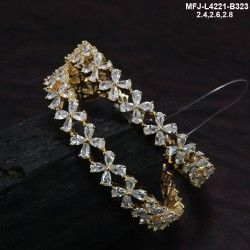 2.4 Size Ruby Stones Flowers Design Gold Plated Finish Two Set Bangles Buy Online