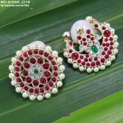 High Quality Kempu Stones Flowers & Leaves Design Pendants With Chain For Bharatanatyam Dance And Temple Buy Online