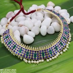 High Quality Kempu Stones  Mango Temple Haram - Kempu Stones Haram - Dance Jewellery Online