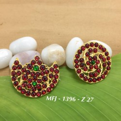 Temple,Ruby&Emerald Kempu Stone Sun & Moon Dance Jewellery Online
