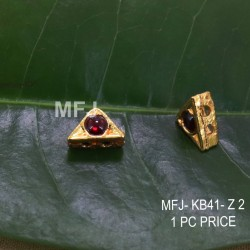 Red Colour Kempu Connector Stones Designed Golden Colour Polished Jewellery Making Bit(1pc Price) Online