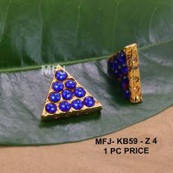 Blue Colour Kempu Connector Stones Double Mango Designed Golden Colour Polished Jewellery Making Bit(1pc Price) Online