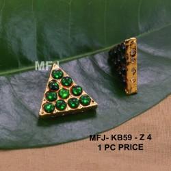 Green Colour Kempu Connector Stones Double Mango Designed Golden Colour Polished Jewellery Making Bit(1pc Price) Online