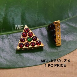 Red&Green Colour Kempu Connector Stones Designed Golden Colour Polished Jewellery Making Bit(1pc Price) Online