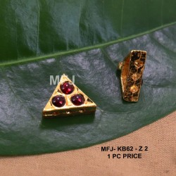 Red Colour Kempu Connector Three Stones Designed Golden Colour Polished Jewellery Making Bit(1pc Price) Online