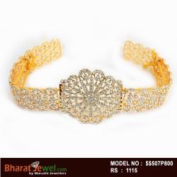 Kempu Stone  Oddiyanam  -Temple Oddiyanam -Dance Jewellery Online