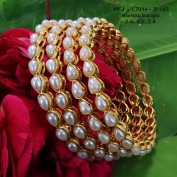 2.4 Size Wight Kempu Stones Thilakam Design Gold Plated Finish Two Pair Bangles Buy Online