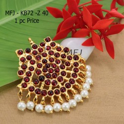 Kempu Conector Red Colour Stones With pearls Golden Colour Polished Jewellery Making (1pc Price) Online