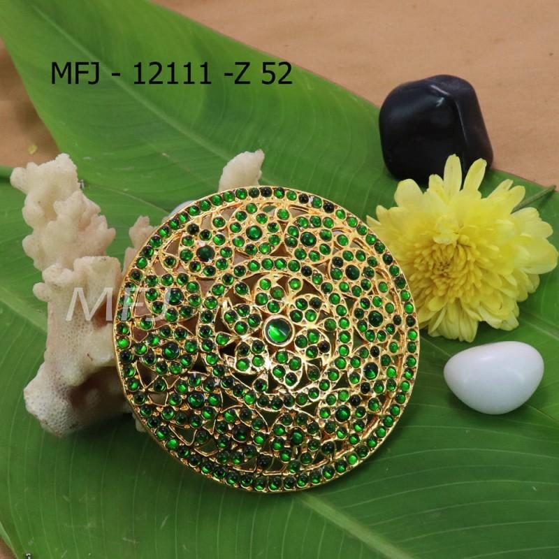 Green Kepu Colour Stones Flower With Mango Design Rakodi For Bharatanatyam Dance And Temple Buy Online