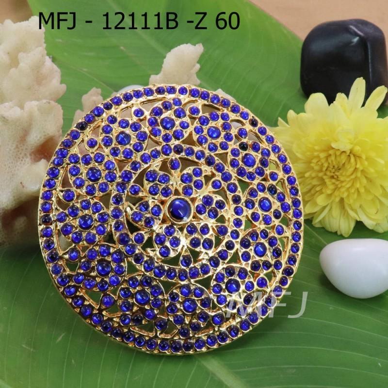 Blue Kepu Colour Stones Flower With Mango Design Rakodi For Bharatanatyam Dance And Temple Buy Online