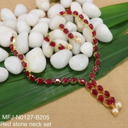 Honey(LCD)Stones Thilakam Design Gold Plat Finished Necklace Buy Online