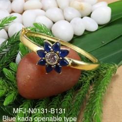 Ruby,Emerald Stones Flower Design Gold plated Finish Open Type Kada Bangles Buy Online