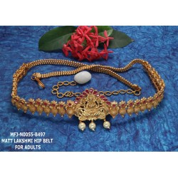 Ruby&Emerald Stones With Pearls Drops Flower& Elephant Design Mat Finish Hip Belt Buy Online