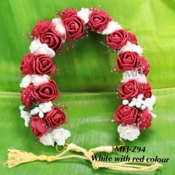 Wight With Pink Colour Jasmine With Rose Design 10 Inch Flowers For Dance Online