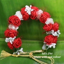 Wight With Pink Colour Rose Design 10 Inch Flowers For Dance Online